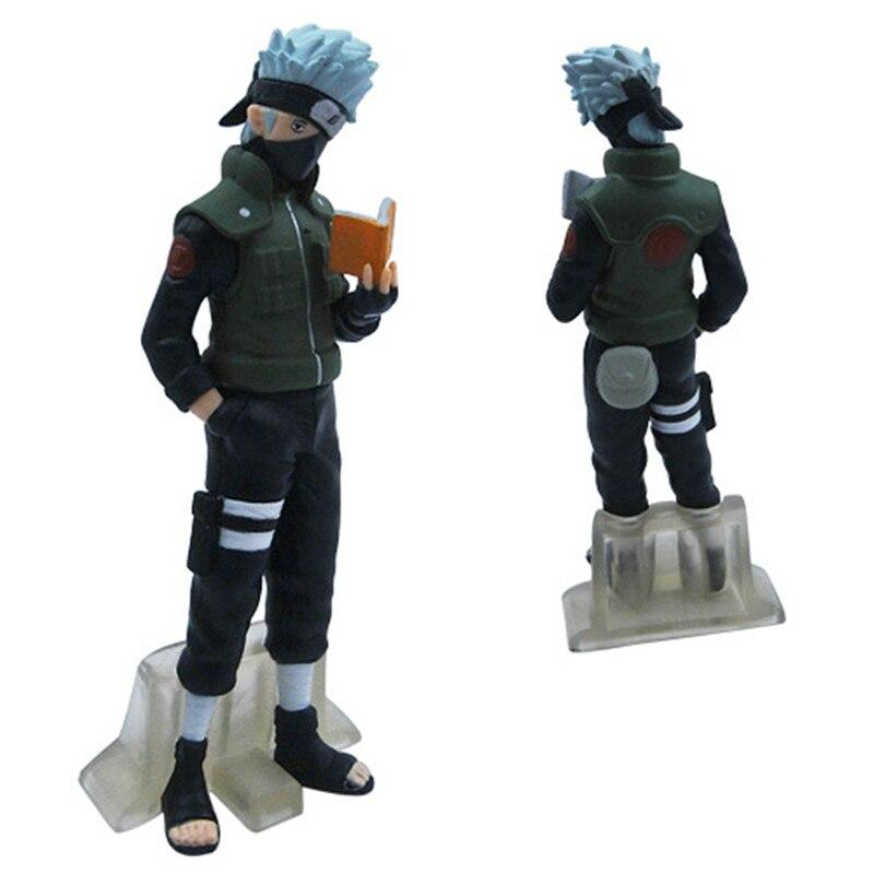 Naruto Shippuden 5pcs/set Uzumaki Naruto Uchiha Sasuke Hatake Kakashi Killer PVC Action Figures doll toys brinquedo model
