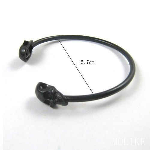 1pc Cool Design Metal Alloy Gothic Punk Rock Vintage Skull Indician Bangle Cuff Bracelet Bangle Accessory for Women Gift