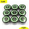 Clapton/Colmena/Tigre/Trenzado/Mix trenzado/Fundido clapton bobina de resistencia del Cable De calefacción 10 pic/caja