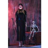 Abbille Mujer Sexy Fresco Belleza Negro de La Boda Vestido Largo de Halloween Uniformes del Juego Juego de Rol de Disfraces Cosplay Ghost Bride