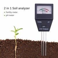 Новинка 2017 года Садоводство инструменты 2 в 1 почвы рН метр и фертильность тестер с 3 зонды идеальный инструмент для садоводства
