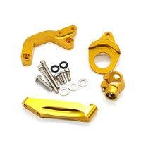 Motorcycle Steering Stabilizer Damper Adjustable Mounting Bracket Support Kit For Suzuki GSXR1000 GSXR 1000 K9 2009 2015