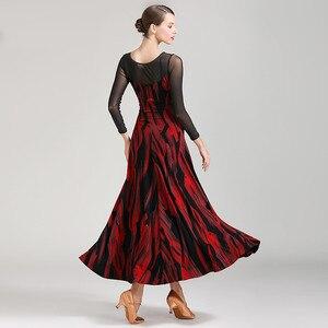 Image 2 - Latin ballroom jurk voor stijldansen vrouwen dans jurk flamenco ballroom praktijk slijtage foxtrot jurk moderne dans kostuums