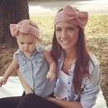 Nova Mamãe e Me crochê Headband Do inverno Set moda feminina knit headband infantil crochet Ear Warmer headband para a Menina 1 Conjunto