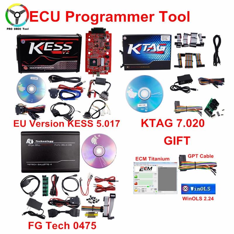 2018 In Linea Red EU Versione KESS V5.017 V2.23 No Token Limite Direttore Sintonia Kit Kess Master V54 KTAG 7.020 FG TECH ECU programmatore