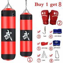 цена на 8Pcs/Set Fitness Training MMA Boxing Punching Bag Sport Kick Hanging Sandbag