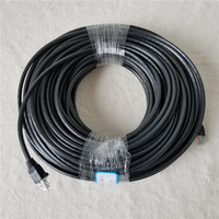RJ45 Cat 5E Network Ethernet Cable Outdoor Cabling 40M 0.5mm 8 Core Oxygen free Copper Wire Double Layer Protective Skins