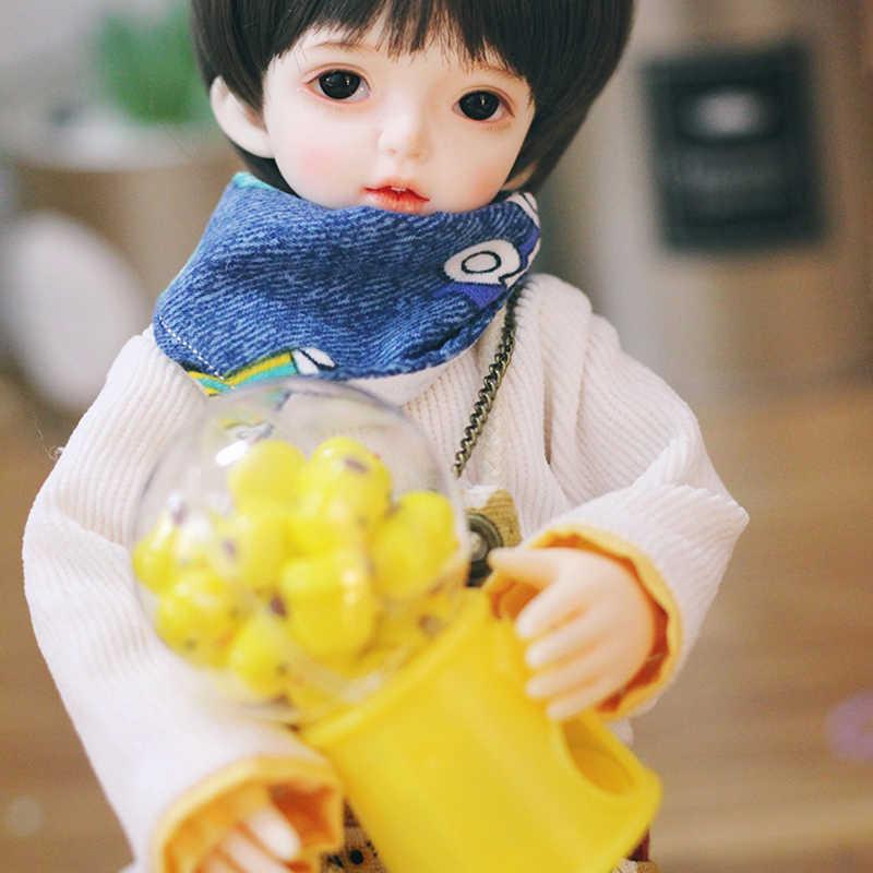 1/6 bonito simulação máquina de goma em miniatura gumball máquina venda automática casa bonecas móveis acessórios para blyth, pullip, boneca bjd