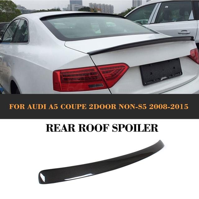 carbon fiber rear roof spoiler wing for audi a5 quattro. Black Bedroom Furniture Sets. Home Design Ideas