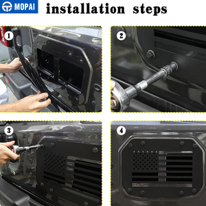 Image 5 - MOPAI Car Styling Mouldings for Jeep Wrangler JL 20118 Car Tailgate Exhaust Air Vent Cover for Jeep JL Wrangler Accessories