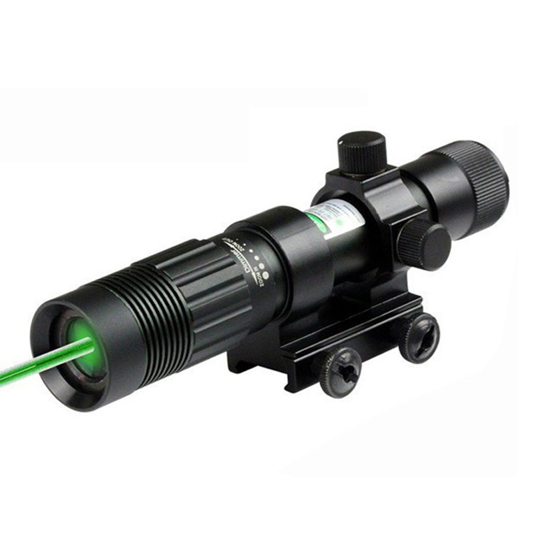 Spike Tactical Powerful 5mW Green Laser Sight Adjustable Green Laser Flashlight Hunting Laser Pointer With 20mm Rail