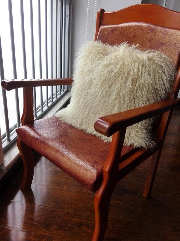 Tibetan sheepskin cushion