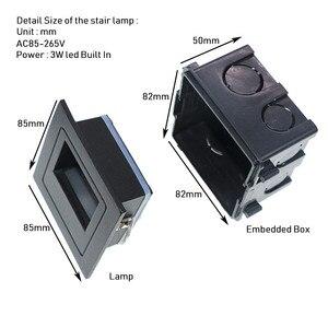 Image 4 - 10 stks 3 w led Trap Licht met Embedded box Aluminium Stap Lichten Outdoor Waterdichte IP65 LED Wall Lamp Footlight PRO 04