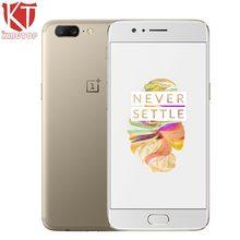 """D'origine OnePlus 5 4G LTE Mobile Téléphone 5.5 """"6 GB 64 GB Snapdragon 835 Octa Core 3 Caméra Android 7.0 20MP 3300 mAh NFC Anti-fingerprit"""