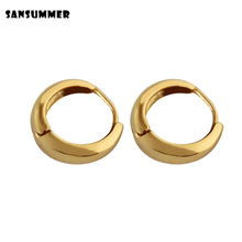 купить SANSUMMER 2019 New Fashion Metal Circle  Drop Earrings Special Simple Design Charm Statement Party Wedding Accessory Jewelry 113 по цене 99.65 рублей
