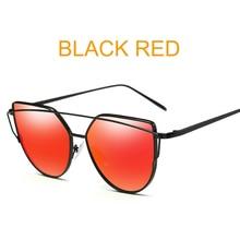 abf9ce448 2018 Marca designer rose gold espelho Olho de Gato do vintage óculos de Sol  Para As Mulheres de Metal Reflexivo lente plana Ócul.