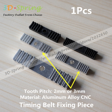 1Pcs Reprap DIY Timing Belt Fixing Piece Aluminum Alloy Tooth pitch 2mm 3mm Clamp Fixed Clip 9*40mm CNC For 3 D Printer parts(China (Mainland))