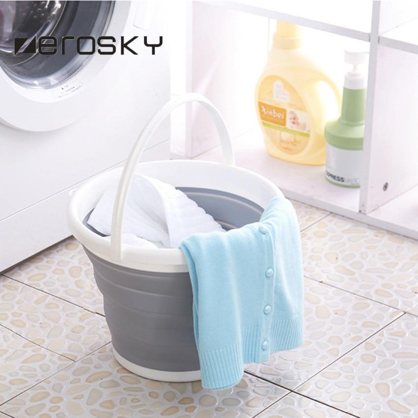 Zerosky 10l Folding Bucket Bathroom Outdoor Fishing Bait