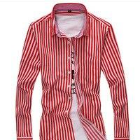 Leisure Fashion Shirt Long Sleeved Open Shirt Long Sleeved Shirt Mens Striped Shirt