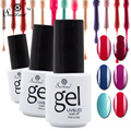Saviland 5pcs Gel Varnish Soak-Off UV LED Gel Nail Polish Long Lasting Glitter Esmaltes Gel Paints Lacquer for Nail Art