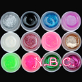 COSCELIA 12 Mix Colors Nail Art UV Gel Set Pure Glitter Powder Colorful Nail Gel UV Gel Set For False Nails Tips Free shipping