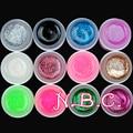 COSCELIA 12 Mix Colors Nail Art UV Gel Set Pure Glitter Powder Colorful Nail Gel UV Gel Set For False Nails Tips Free shipping