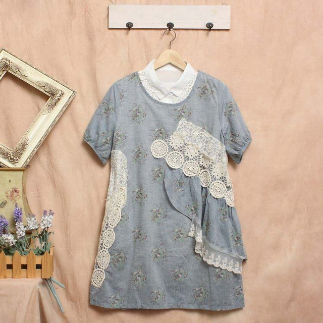lace ruffle tunique femme crochet ropa mujer vestidos. Black Bedroom Furniture Sets. Home Design Ideas