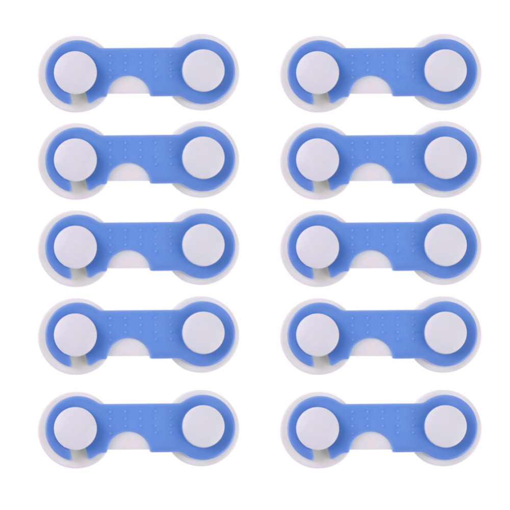 20pcs/Set Adhesive Doors Drawers Wardrobe Todder Baby Children Protection Safety Plastic Lock Blue Cover Kids Security Products