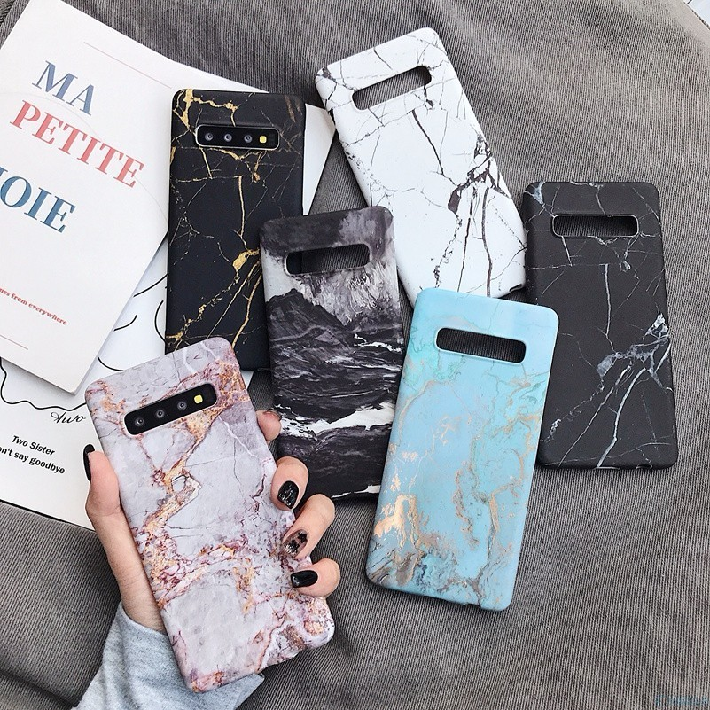 Marble <font><b>Phone</b></font> Back <font><b>Case</b></font> For <font><b>Samsung</b></font> Galaxy S7 Edge S8 <font><b>S9</b></font> S10 Plus e Note 8 9 Note9 S10e <font><b>S9</b></font>+ Pattern <font><b>Hard</b></font> PC Full on <font><b>Cover</b></font> Coque image