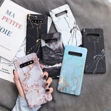 Marmur telefon powrót Case do Samsung Galaxy S7 krawędzi S8 S9 S10 Plus e uwaga 8 9 Note9 S10e S9 + wzór twardy PC pełna na pokrywa Coque tanie tanio Pół-owinięte Przypadku Odporna na brud Anti-knock Galaxy S8 Galaxy S8 Plus Galaxy Note 8 Galaxy S9 Plus Galaxy note 9