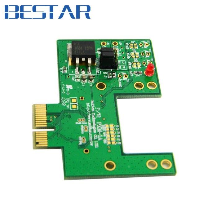 Mini PCI-e pcie pci express 52pin Socket to pcie pci express PCI-e Express Gold Contact Adapter card PCBA For Wireless Cards pci