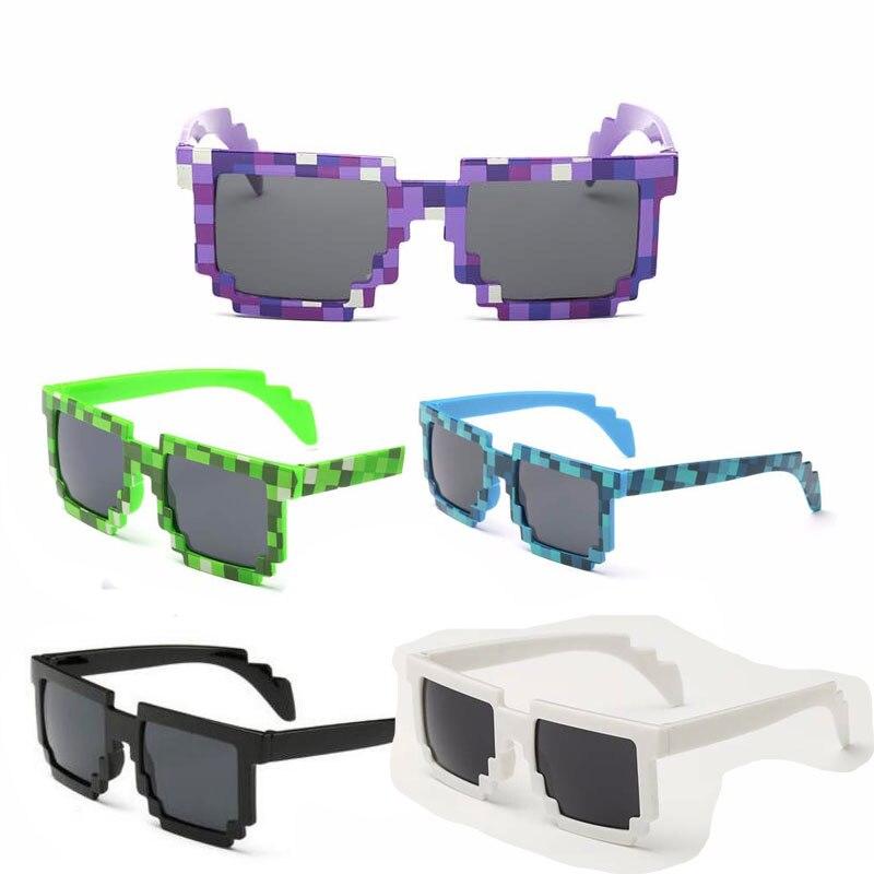 5 צבע! אופנה משקפי שמש ילדי cos לשחק פעולה משחק צעצועי Minecrafter כיכר משקפיים עם EVA מקרה מתנות עבור ילד ילדה