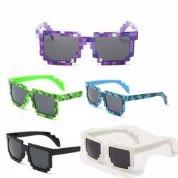 5 цветов! Модные солнцезащитные очки для женщин дети косплей действие игры игрушечные лошадки Minecrafter квадратный очки с EVA чехол подарки