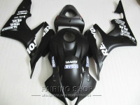 Black repsol For HONDA fairing kit CBR600RR 2007 2008 cbr 600rr 07 08 ( Matte ) Fairings Customize free LL57