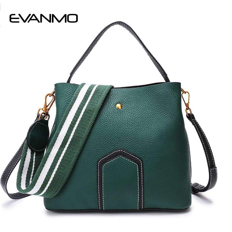 Casual Tote Bag Designer Female Bucket Handbags Classic Color Strap Shoulder Bags Handbag Large Capacity Crossbody Bag Shopping gorden yi de luxury brand designer bucket bag women leather wide strap shoulder bag handbag large capacity crossbody bag color 8