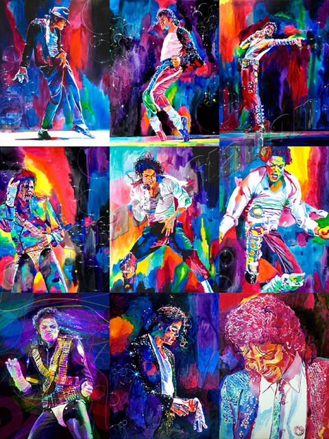 Michael Jackson King Of Pop Dance Music Poster Moves Action Print On CanvasFamous Singer