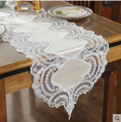 Europe Embroidered Table Runner Flag Table Cover Lace High End