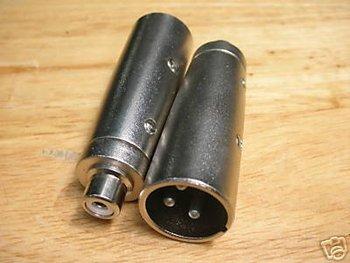 PKG50 RCA żeński na męski XLR Audio Mic. przejściówka RXB