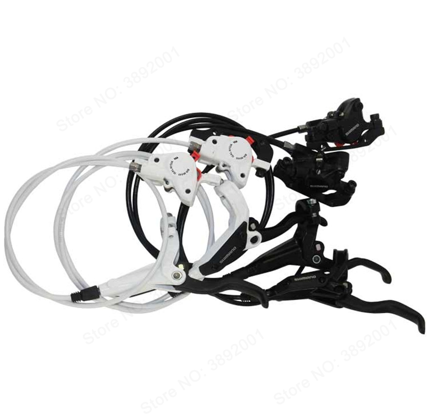 Shimano BR M445 M446 M447 brake Cycling Bike Bicycle Hydraulic Brake Sets Front and Rear Biking Parts Black/White BR-M446 велосипедные тормоза shiman0 shimano0 br m446 m447 mtb xc