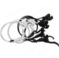 Shimano BR M445 M446 M447 brake Cycling Bike Bicycle Hydraulic Brake Sets Front and Rear Biking Parts Black/White BR M446