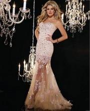 Romance 2016 Evening Dress Beaded Crystals Sweetheart Neckline Vestido De Festa Longo Robe De Soiree Prom Dresses Fast Shipping