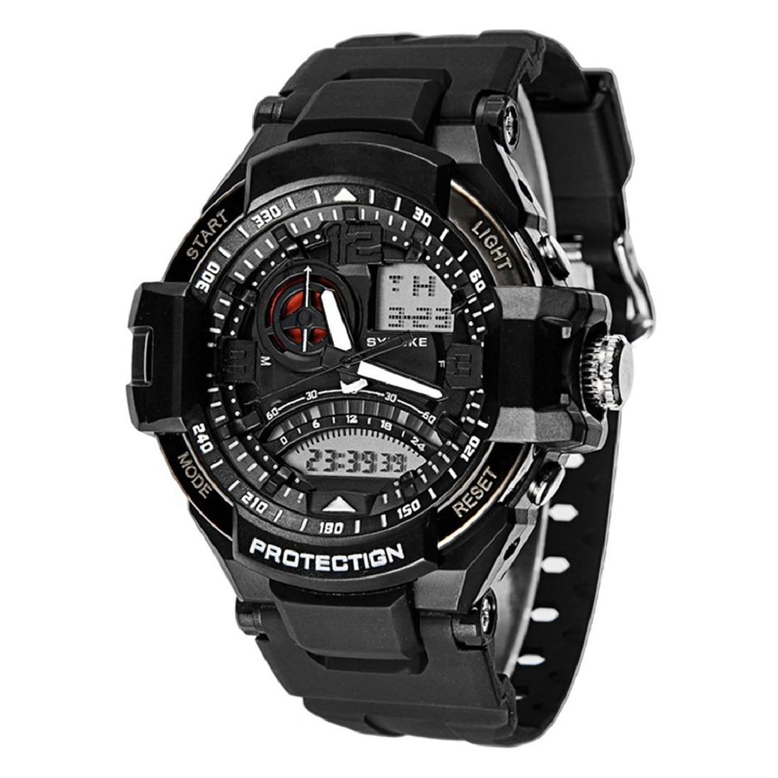 все цены на Practical SYNOKE New Men Watch Multifunction Digital Army Watch Quartz Watch Waterproof Watch онлайн