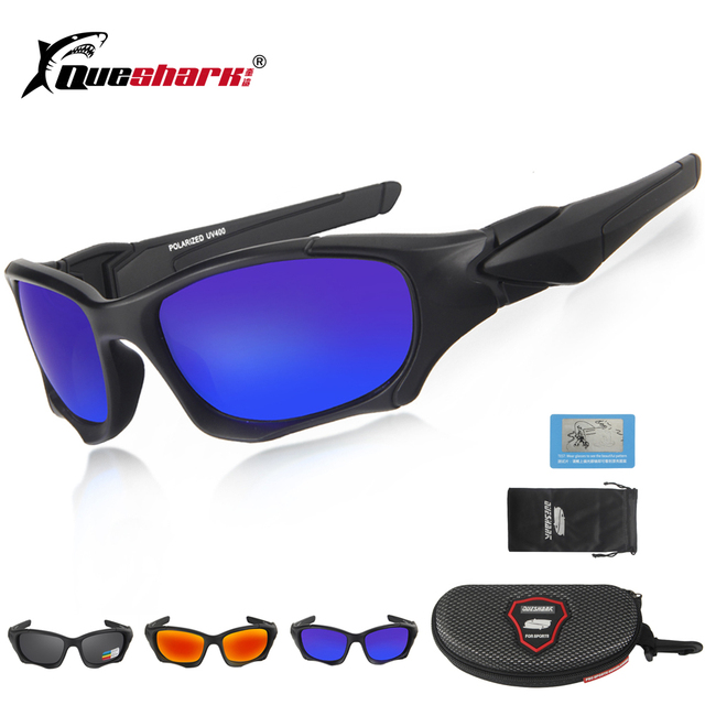 6913522e4c Queshark Men Women TR90 UV400 Polarized Cycling Glasses Bicycle Goggles  Bike Sport Sunglasses Cycling Eyewear Fishing