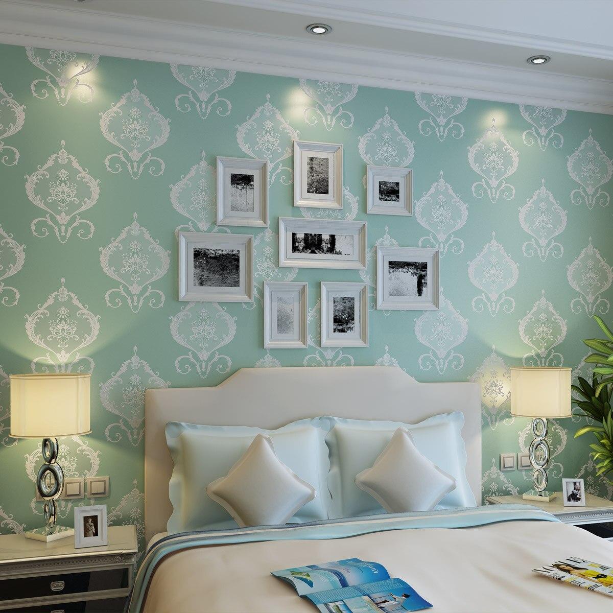 Online kopen Wholesale Goud en blauw behang uit China Goud en ...