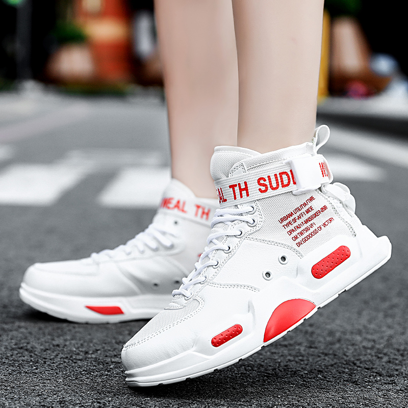 Image 4 - YRRFUOT Fashion High Top Men Shoes Trend  Hot Sale Light Sneakers High Quality Comfortable Casual men Shoes Non slip Flats Shoes-in Men's Casual Shoes from Shoes