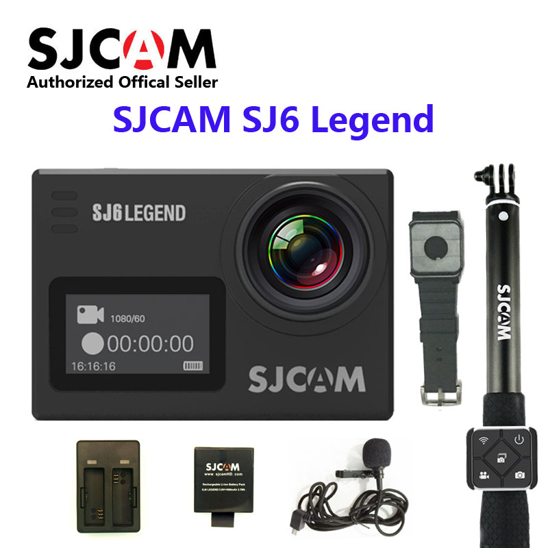 SJCAM SJ6 LEGEND wifi Notavek 96660 4K 24fps Ultra HD Waterproof Action Camera 2.0 Touch Screen Remote Sports DV in stock sjcam legend sj6 wifi notavek 96660 4k 24fps ultra hd waterproof camera action cam 2 0 touch screen remote sport dv