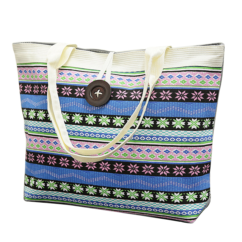 Luggage & Bags Straightforward Girls Handbags Large Women Sand Beach Printing Canvas Large Women Handbag Women Messenger Bags Diversified In Packaging