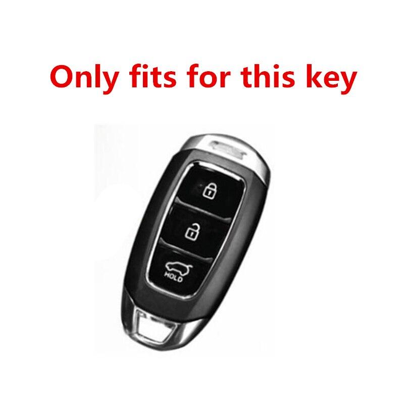 Image 3 - Star Carbon stripe Car key case For Hyundai i30 Ix35 KONA Encino Solaris Azera Grandeur Ig Accent Santa Fe Palisade 2017 2018-in Key Case for Car from Automobiles & Motorcycles