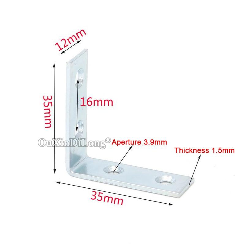 NEW 100PCS Metal Furniture Corner Braces 90 Degree L Shape Frame Board Support Holder Brackets Furniture Connecting Fittings in Corner Brackets from Home Improvement