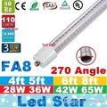 V-Shaped Single Pin FA8 T8 Led Light Tubes 4ft 5ft 6ft 8ft Cooler Door Led Tubes 270 Angle AC 85-265V
